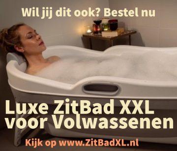 Luxe ZitBad XXL voor Volwassenen - www.ZitBadXL.nl