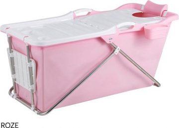 Bath Bucket 2.0 Roze - Opvouwbaar ligbad voor thuis - Zitbad voor Volwassenen - ZitBadXL.nl