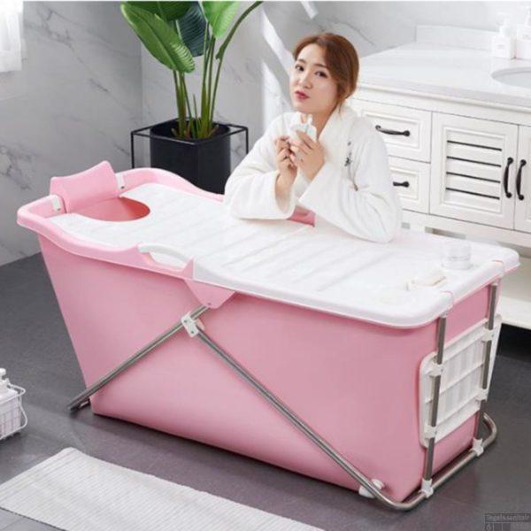 Bath Bucket 2.0 Roze - Opvouwbaar voor Volwassenen - Zitbad ligbad voor thuis - ZitBadXL.nl
