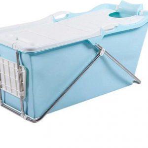 Bath Bucket 2.0 blauw - Opvouwbaar ligbad voor thuis - Zitbad voor Volwassenen - ZitBadXL.nl