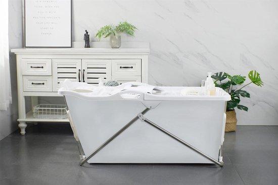 Bath Bucket 2.0 wit - Opvouwbaar ligbad voor thuis - Zitbad voor Volwassenen - ZitBadXL.nl