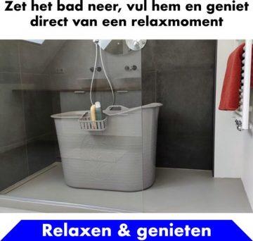 Bath Bucket Grijs Zitbad – Mobiel Bad Voor Volwassenen – Bad Bucket - flexibel ruim baby badje - www.ZitBadXL.nl