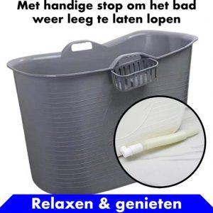 Bath Bucket Grijs Zitbad – Mobiel Bad Voor Volwassenen – Bad Bucket - flexibele badkuip - www.ZitBadXL.nl