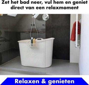 Bath Bucket Wit Zitbad – Mobiel Bad Voor Volwassenen – Bad Bucket - flexibel ruim baby badje - www.ZitBadXL