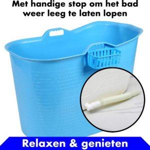 Bath Bucket blauw Zitbad – Mobiel Bad Voor Volwassenen – Bad Bucket - flexibele badkuip - www.ZitBadXL