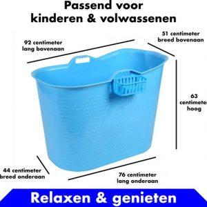 Bath Bucket blauw Zitbad – Mobiel Bad Voor Volwassenen en kinderen – Bad Bucket - www.ZitBadXL