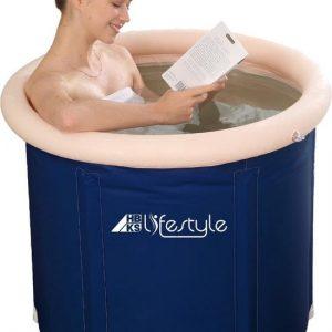 Bath Bucket opvouwbaar - HBKS ZitBad - air bath XL opblaasbaar - Zitbad Voor Volwassenen - ZitBadXL.nl