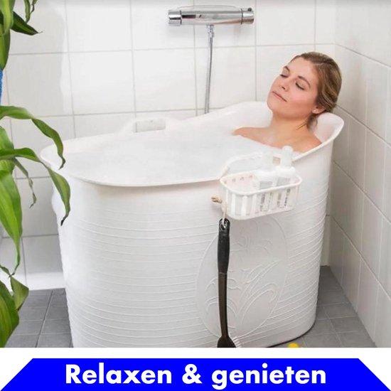 Bath Bucket wit Zitbad – Mobiel Bad Voor Volwassenen – Bad Bucket - flexibel ruim badje - www.ZitBadXL