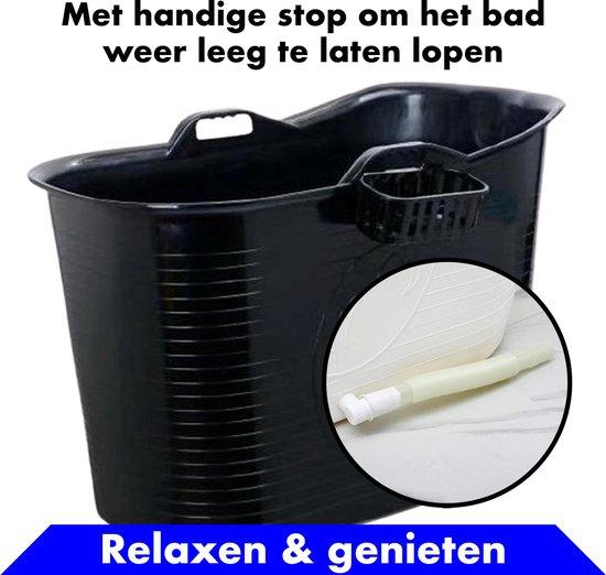 Bath Bucket zwart Zitbad – Mobiel Bad Voor Volwassenen – Bad Bucket - flexibele badkuip - www.ZitBadXL.nl