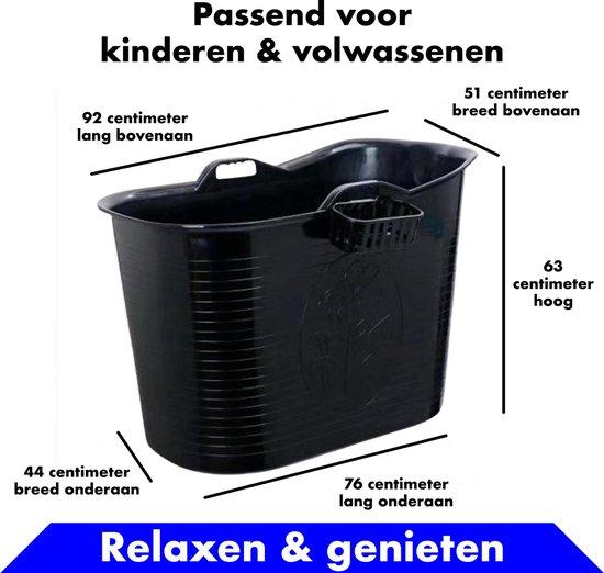 Bath Bucket zwart Zitbad – Mobiel Bad Voor Volwassenen en kinderen – Bad Bucket - www.ZitBadXL.nl