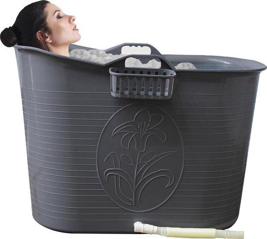 EKEO Bath Bucket Zilver - Zitbad voor volwassenen -Bath Bucket 200 liter - www.ZitBadXL.nl