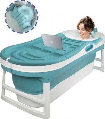 EKEO XL Zitbad blauw - Bath Bucket - Opvouwbaar ligbad voor thuis - Zitbad voor Volwassenen - ZitBadXL.nl