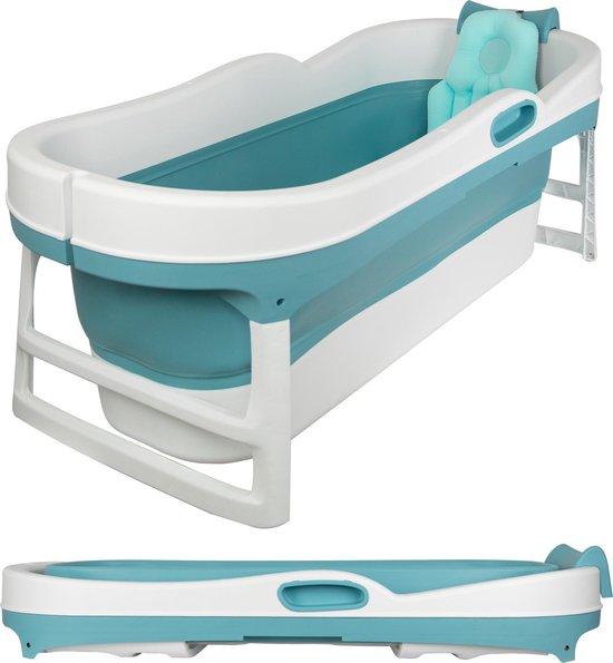 EKEO XL Zitbad blauw - Bath Bucket volwassenen - Opvouwbaar ligbad voor thuis - Zitbad voor Volwassenen - ZitBadXL.nl