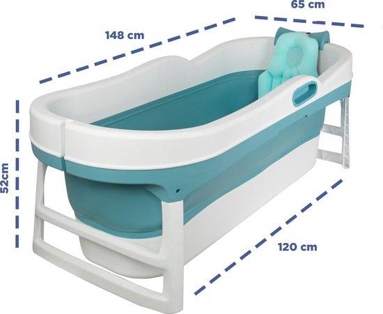 EKEO XL Zitbad blauw - Bath Bucket volwassenen - Opvouwbaar ligbad voor thuis - Zitbad voor Volwassenen afmeting - ZitBadXL.nl