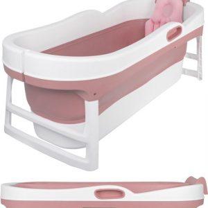 EKEO XL Zitbad roze - Bath Bucket volwassenen - Opvouwbaar ligbad voor thuis - Zitbad voor Volwassenen - ZitBadXL.nl