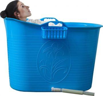 EKEO - Zitbad Voor Volwassenen - Bath Bucket - Blauw – Zitbad vrijstaand Voor Volwassenen – Opvouwbaar badkuip - www.ZitBadXL.nl
