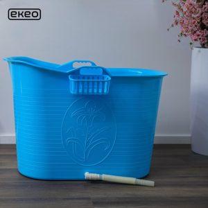EKEO - Zitbad Voor Volwassenen Bath Bucket - Blauw – Zitbad vrijstaand Voor Volwassenen – Opvouwbaar badkuip - www.ZitBadXL.nl