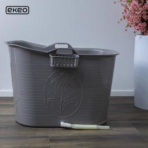 EKEO - Zitbad Voor Volwassenen Bath Bucket - Grijs – Zitbad vrijstaand Voor Volwassenen – Opvouwbaar badkuip - www.ZitBadXL