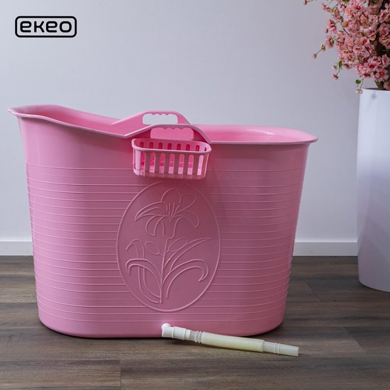 EKEO - Zitbad Voor Volwassenen - Bath Bucket - Roze – Zitbad vrijstaand Voor Volwassenen – Opvouwbaar badkuip - www.ZitBadXL.nl