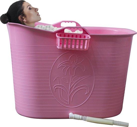 EKEO - Zitbad Voor Volwassenen Bath Bucket -Roze – Zitbad vrijstaand Voor Volwassenen – Opvouwbaar badkuip - www.ZitBadXL.nl