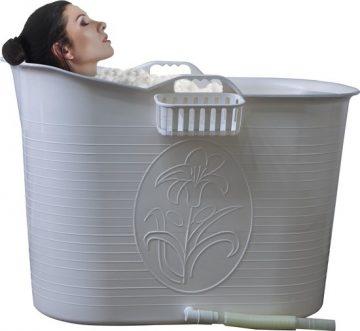 EKEO - Zitbad Voor Volwassenen - Bath Bucket - Wit – Zitbad vrijstaand Voor Volwassenen – Opvouwbaar badkuip - www.ZitBadXL.nl