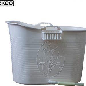 EKEO - Zitbad Voor Volwassenen Bath Bucket -Wit – Zitbad vrijstaand Voor Volwassenen – Opvouwbaar badkuip - www.ZitBadXL.nl