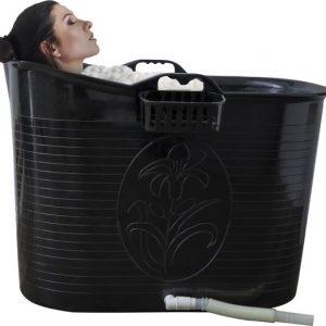 EKEO - Zitbad Voor Volwassenen - Bath Bucket - Zwart – Zitbad vrijstaand Voor Volwassenen – Opvouwbaar badkuip - www.ZitBadXL.nl