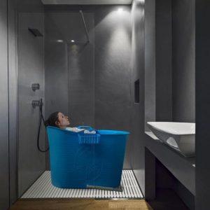 EKEO - Zitbad XL Voor Volwassenen Bath Bucket - Blauw – Zitbad vrijstaand Voor Volwassenen – Opvouwbaar badkuip - www.ZitBadXL.nl