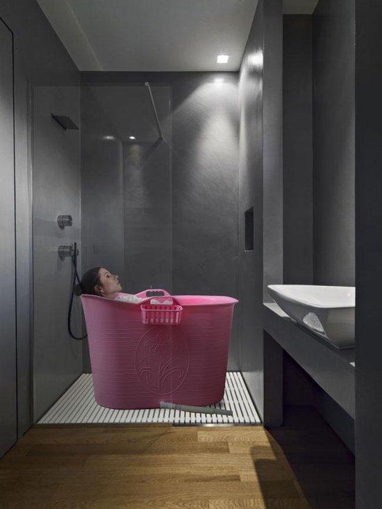 EKEO - Zitbad XL Voor Volwassenen Bath Bucket - Roze – Zitbad vrijstaand Voor Volwassenen – Opvouwbaar badkuip - www.ZitBadXL.nl