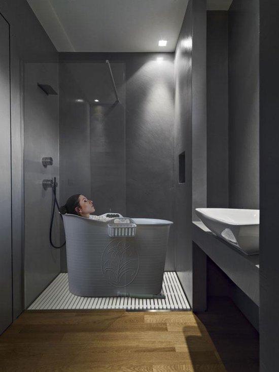 EKEO - Zitbad XL Voor Volwassenen Bath Bucket - Wit – Zitbad vrijstaand Voor Volwassenen – Opvouwbaar badkuip - www.ZitBadXL.nl