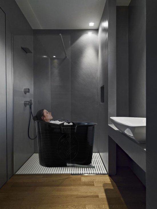 EKEO - Zitbad XL Voor Volwassenen Bath Bucket - Zwart – Zitbad vrijstaand Voor Volwassenen – Opvouwbaar badkuip - www.ZitBadXL.nl