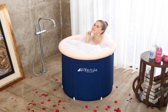 HBKS ZitBad opvouwbaar - air bath XL opblaasbaar - Zitbad Voor Volwassenen - ZitBadXL.nl
