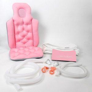 HelloBath Opvouwbaar bad XXL 148cm roze - Bath Bucket 2.0 - Inklapbaar bad voor in de douche - Zitbad voor Volwassenen - ZitBadXL.nl