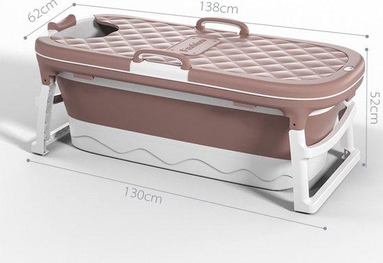 Russle Opvouwbaar zitbad groot - 138cm oud roze - Bath Bucket 2.0 - plastic badkuip - Inklapbaar bad - Zitbad voor Volwassenen - ZitBadXL.nl