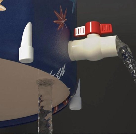 Showersupply opvouwbaar ZitBad - air bath XL opblaasbaar - Zitbad Voor Volwassenen - afvoer - ZitBadXL.nl
