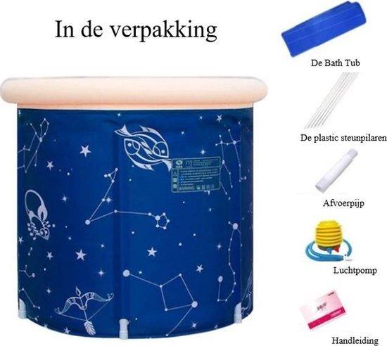 Showersupply opvouwbaar ZitBad - air bath XL opblaasbaar - Zitbad Voor Volwassenen - inhoud - ZitBadXL.nl