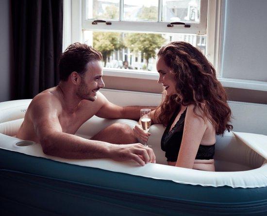 Tubble Royale air bath XL - opblaasbaar Zitbad blauw Voor Volwassenen - ZitBadXL.nl