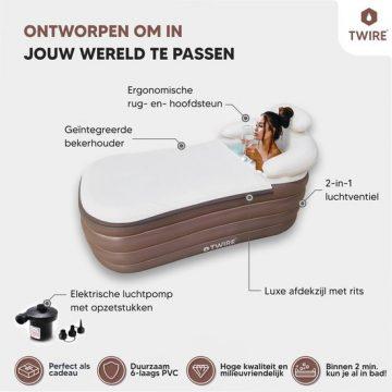 Twire Premium - Opblaas LigBad XL opblaasbaar Zitbad Voor Volwassenen - ZitBadXL