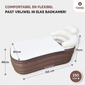 Twire Premium - Opblaas LigBad XL opblaasbaar - Zitbad Voor Volwassenen - ZitBadXL