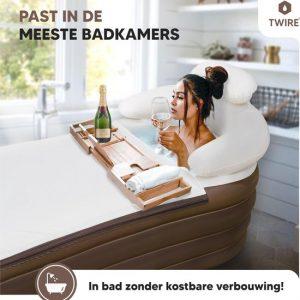 Twire Premium Opblaas LigBad XL - opblaasbaar Zitbad Voor Volwassenen - ZitBadXL