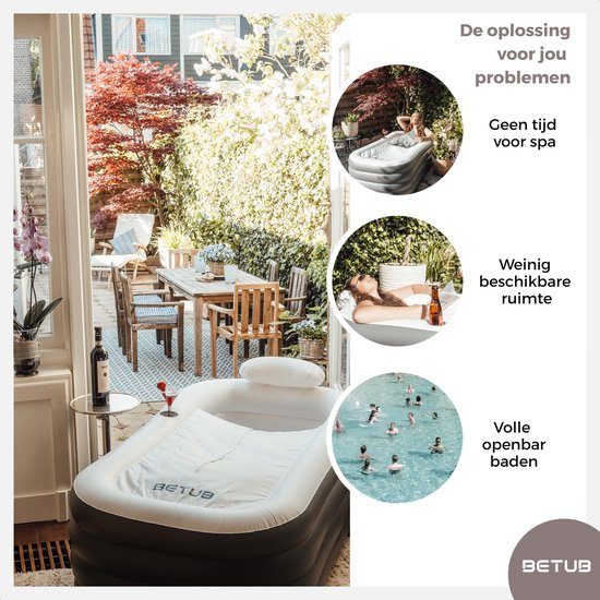 air bath XL - Betub opblaasbaar Zitbad - Voor Volwassenen - ZitBadXL.nl