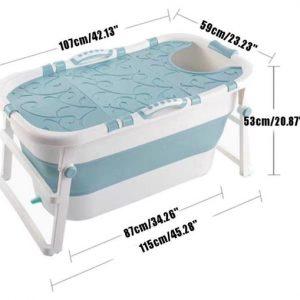 Draagbaar Opvouwbaar bad -ZitBad voor Volwassenen en kinderen - Bad met afvoer afmetingen - www.ZitBadXL.nl