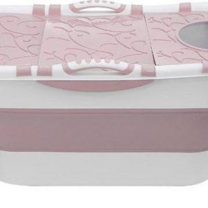 Draagbaar Opvouwbaar bad -ZitBad voor Volwassenen en kinderen - roze - www.ZitBadXL.nl