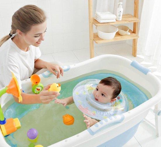 Draagbaar Opvouwbaar bad -ZitBad voor kinderen - Bad met afvoer roze - www.ZitBadXL.nl