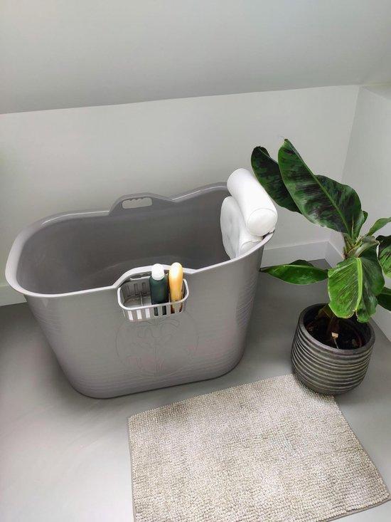FlinQ Zitbad met bathtub pillow - zitbad voor volwassenen - bath Bucket - www.ZitBadXL.nl