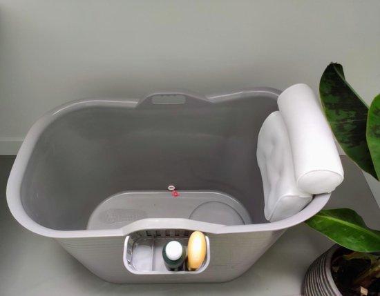 FlinQ Zitbad met hoofdkussen en nek kussen - zitbad voor volwassenen - bath Bucket - www.ZitBadXL.nl