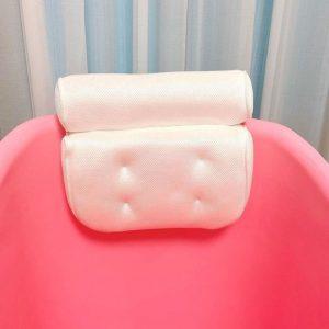 FlinQ Zitbad met hoofdkussen - zitbad voor volwassenen - bath Bucket roze - www.ZitBadXL.nl