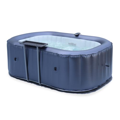 Kleine opblaasbare spa met bijzettafel - Nest 2 - Opbaasbare jacuzzi 2 personen - www.ZitBadXL.nl