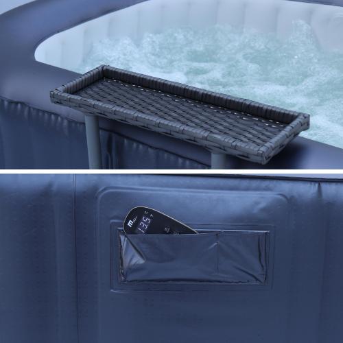 Kleine opblaasbare spa met bijzettafel - Opbaasbare jacuzzi 2 personen - www.ZitBadXL.nl