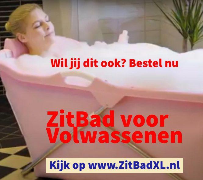 Opvouwbaar bad volwassenen - Mobiel bad - www.ZitBadXL.nl